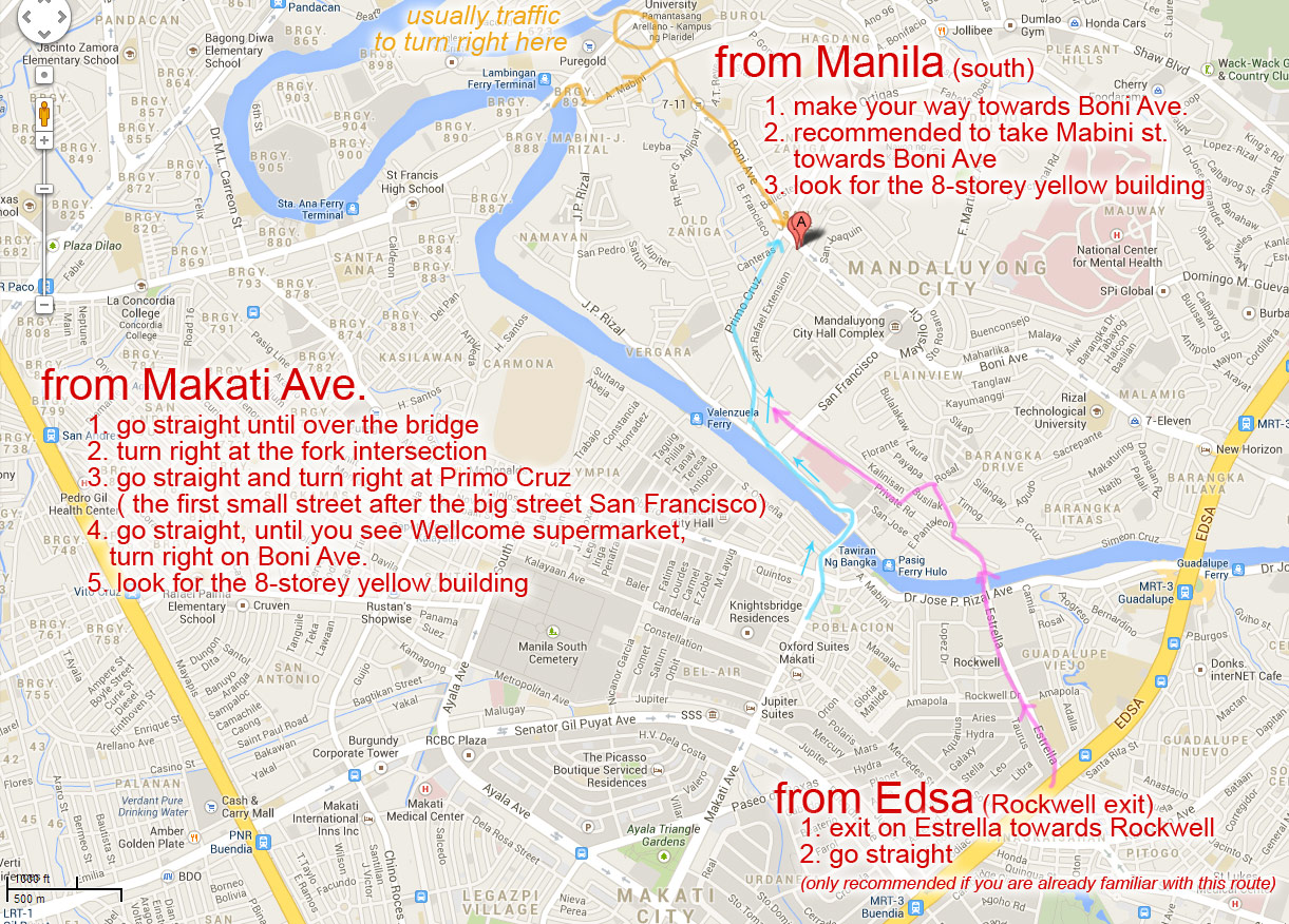 from Makati Ave, Manila and EDSA to Rooms498