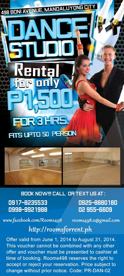DANCE STUDIO METRO MANILA - VERY AFFORDABLE & NICE! WWW.ROOMSFORRENT.PH