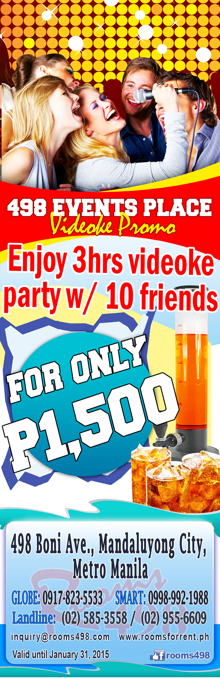 VIDEOKE KTV PARTY KARAOKE METRO MANILA OVERNIGHT PARTY