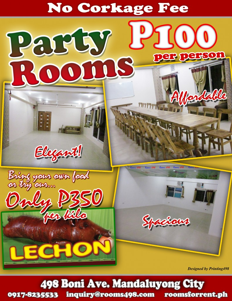 Christmas Parties @ Rooms for Rent ROOM498