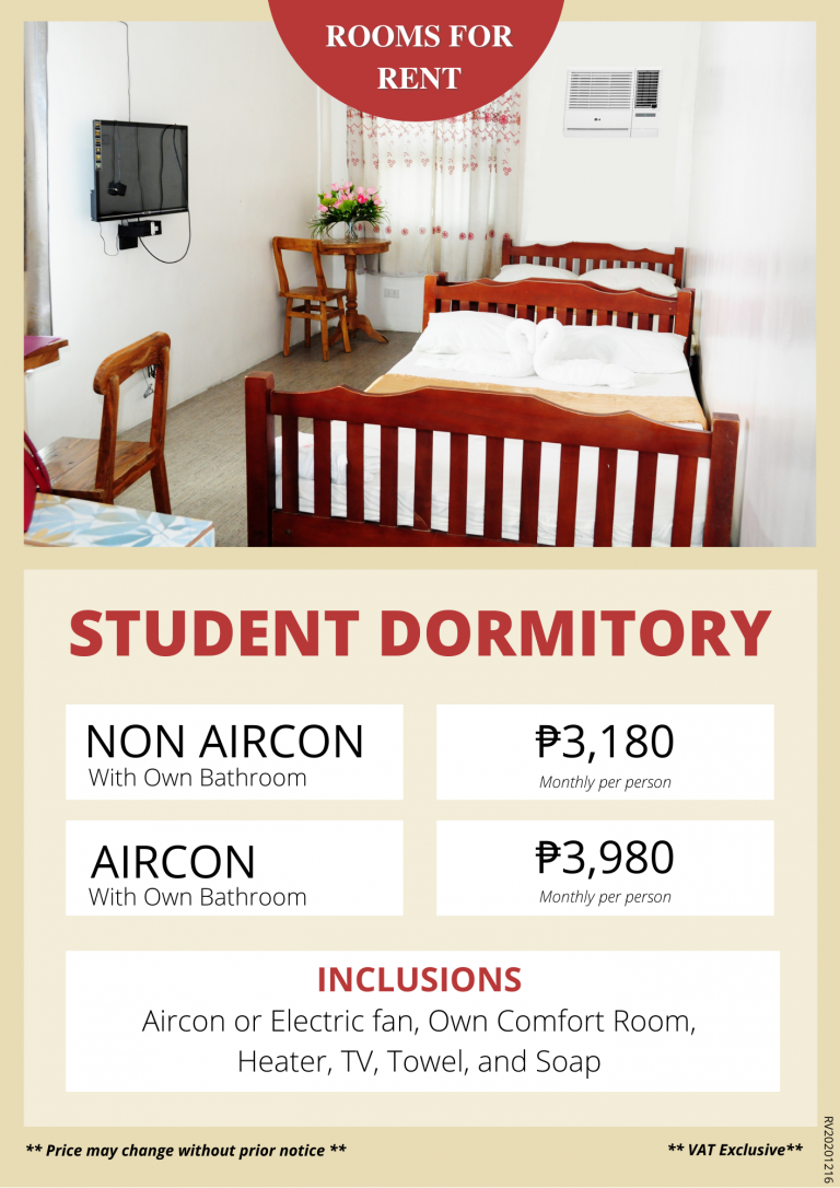 Price List - Rooms for Rent-Accommodation-Daily-Monthly-roomsforrent.ph